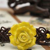 陶瓷手環-優雅花朵生日聖誕節禮物女串珠手鍊73gw153[時尚巴黎]