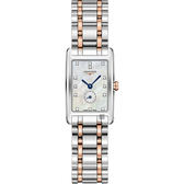 LONGINES浪琴 多情系列18K玫瑰金小秒針真鑽女錶-珍珠貝/20mm L52555877