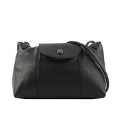 【LONGCHAMP】LE PLIAGE CUIR小羊皮斜背包(黑色) L1061 757 001
