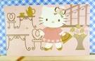 【震撼精品百貨】Hello Kitty 凱蒂貓~kitty大卡片~粉茶具