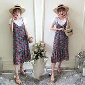 中大尺碼3515#【實拍】夏季新款大碼女裝胖mm中長款吊帶連衣裙200斤(R032)