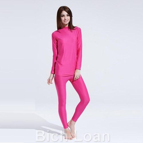【南紡購物中心】 Bich Loan居家外穿兩用衛生衣褲組-桃紅