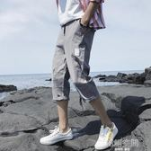 七分褲韓版潮男百搭潮流寬鬆夏季修身休閒學生6分六分過膝7分短褲