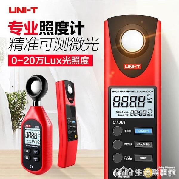 數字照度計光照度計測光儀高精度流明測光亮度儀光度照度儀 NMS樂事館新品