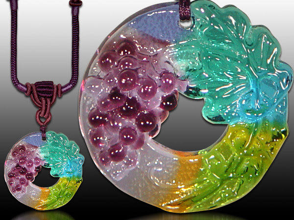 鹿港窯~居家開運水晶琉璃項鍊~葡萄 ◆免運費送到家◆