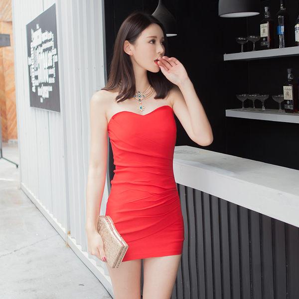緊身洋裝裙子夏夜場女裝2019緊身包臀抹胸連身裙裹胸超短裙洋裝工作服  愛麗絲精品