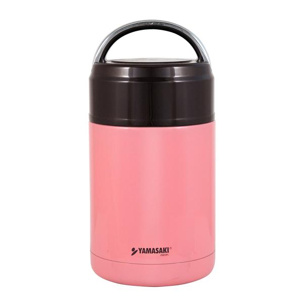 山崎手提式不鏽鋼真空燜燒罐 SK-800ML (粉)