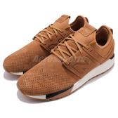 【六折特賣】New Balance 慢跑鞋 NB 247 咖啡 灰 麂皮鞋面 休閒鞋 運動鞋 男鞋【PUMP306】 MRL247WTD