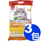 【寵物王國】【免運費】EcoClean艾可豆腐貓砂-玉米味7L x3包超值組合