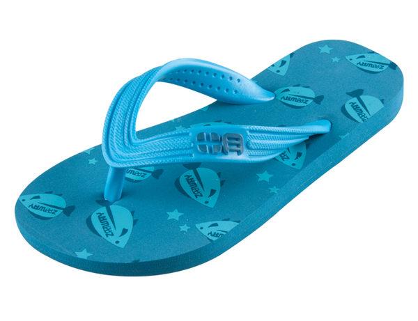 童鞋 太空魚夾腳拖鞋-藍色【ZABWAY】BABY FISH 親膚人字拖