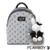 PLAYBOY- 後背包 龐克兔系列-黑色