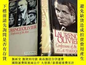 二手書博民逛書店英法德意等原版外文罕見LAURENCE OLIVIER Confessions Of An Actor: An A