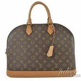 茱麗葉精品 二手精品【9成新】Louis Vuitton LV M53150 ALMA MM 經典花紋手提艾瑪包 附掛鎖