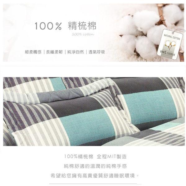 單人床罩組 五件式 100%精梳棉 台灣製造 Best寢飾 FJ603-1
