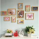 實木相框牆組合照片牆歐式客廳創意臥室地中海相片牆裝飾畫S18-10