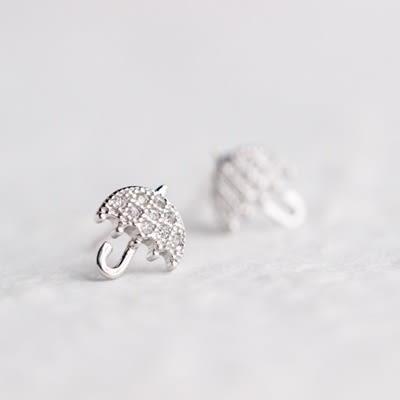 925純銀耳環(耳針式)-可愛雨傘生日聖誕節禮物女飾品73dr102【時尚巴黎】