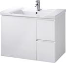 【台灣吉田】LOP-8380 80cm全發泡桶身/水晶面板 浴櫃組