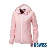 K-SWISS Solid Fleece Jacket刷毛防風外套-女-粉紅
