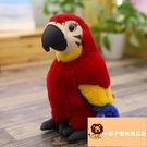 小寵物鳥兒禮物金剛鸚鵡公仔毛絨玩具擺件仿真玩偶【小獅子】