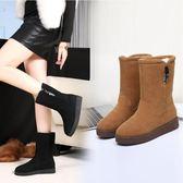 33-34 小碼女鞋 雪地靴厚底韓版保暖防滑加絨學生棉靴