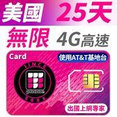 【TPHONE上網專家】美國 25天無限高速上網卡 包含境內無限通話和無限簡訊 使用AT&T電信基地台