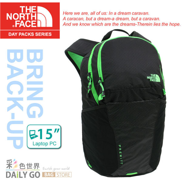 The North Face後背包包大容量15吋筆電包北臉CWW9-BTQ