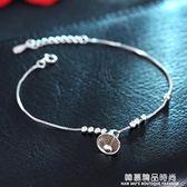 S925純銀轉運小鈴鐺腳?女韓版簡約森系名族風學生足飾品生日禮物