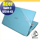 【Ezstick】ACER SF314-43 二代透氣機身保護貼(含上蓋貼、鍵盤週圍貼、底部貼) DIY 包膜
