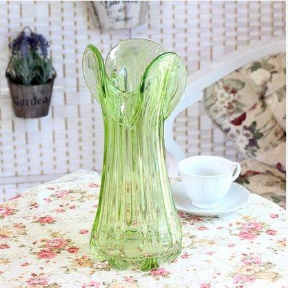 器三葉彩色花瓶富貴竹百合花瓶(圖一)
