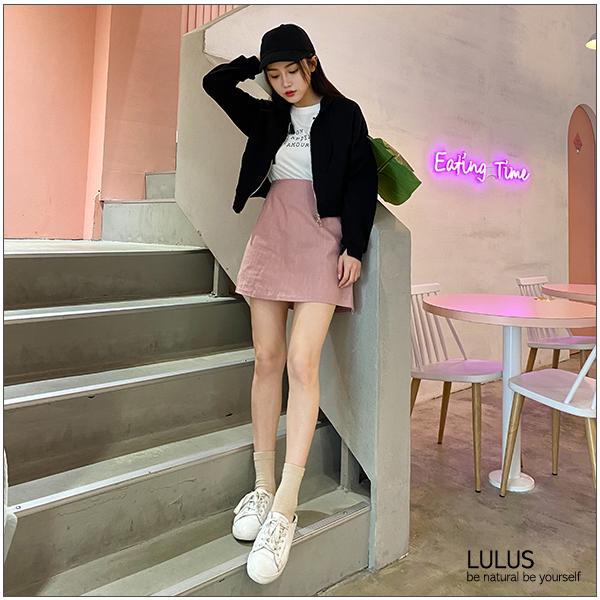 LULUS特價-C圈圈拉鍊短版連帽外套-5色 【03100217】