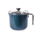 HOLA 附蓋304不鏽鋼調理湯鍋1250ml-礦石藍