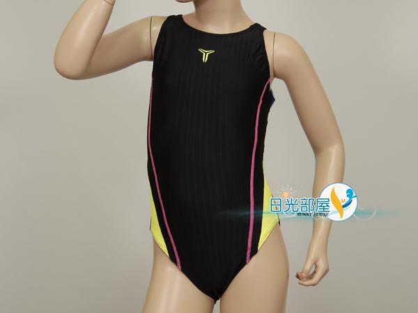 *日光部屋* TORNADO (公司貨)/15-SGS21-BLK 競泳款/女童連身三角泳裝(韓國知名品牌)