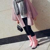 女童馬丁靴二棉年新款時尚公主高筒靴秋冬加絨皮靴兒童靴子潮 晴天時尚館