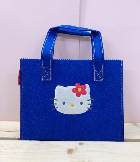 【震撼精品百貨】Hello Kitty 凱蒂貓~KITTY不織布手提袋-KITTY大臉藍#79161