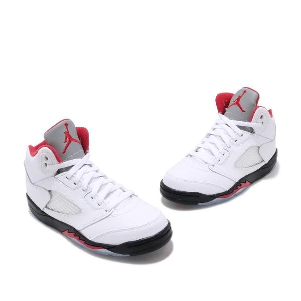 Nike Air Jordan 5 Retro PS Fire Red 白 紅 黑 中童鞋 AJ5 流川楓 喬丹 籃球鞋【PUMP306】 440889-102