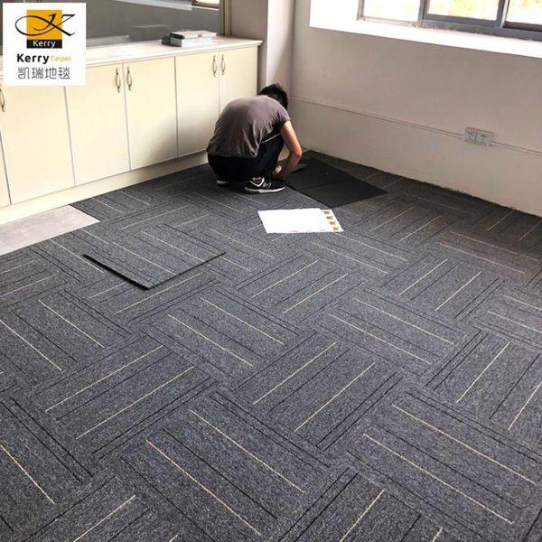 拼接地毯子地墊辦公室地毯臥室滿鋪客廳地毯寫字樓房間家用簡約方塊地毯拼接【聖誕節提前購