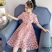 女童連身裙夏裝兒童春秋裙子女大童洋氣雪紡長裙【時尚大衣櫥】