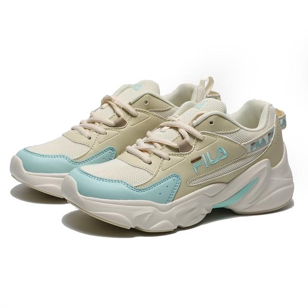 FILA 休閒鞋 HIDDEN TAPE 2 復古 奶茶 水藍 後串標 老爹鞋 女 (布魯克林) 5J329V166
