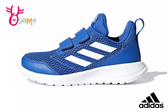 adidas ALTARUN 中童 輕量慢跑鞋 魔鬼氈 透氣運動鞋 Q9399#藍色◆OSOME奧森鞋業
