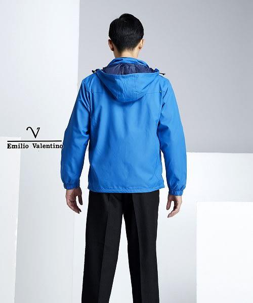 【Emilio Valentino】防風抗曬機能運動薄外套 - 軍藍