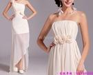 (45 Design) 訂製款 7天到貨禮法國蕾絲修身一字公主新娘婚紗禮服齊地蓬蓬顯瘦1