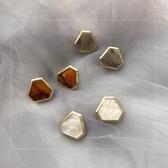 極簡風個性幾何耳釘女 氣質簡約耳環時尚耳飾品Mandyc