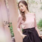 東京著衣【YOCO】柔美蕾絲七分袖針織上衣-S.M.L(170181)
