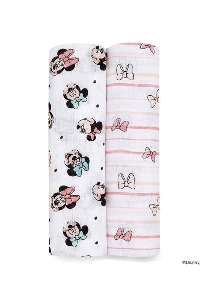美國 Aden+Anais 迪士尼經典款包巾(2入)-彩虹米妮