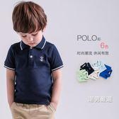 短袖polo衫男童短袖polo衫5兒童翻領體恤4棉質3寶寶T恤2歲1半袖上衣小童夏裝