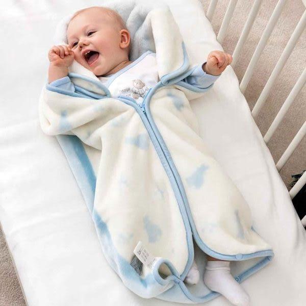 奇哥 比得兔 嬰兒防踢袖毯(80x90公分)(藍)~附贈奇哥提袋