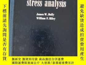 二手書博民逛書店實驗應力分析罕見experimental stress anal