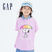 Gap女童 Gap x Snoopy 史努比系列純棉T恤 701047-玫瑰紫