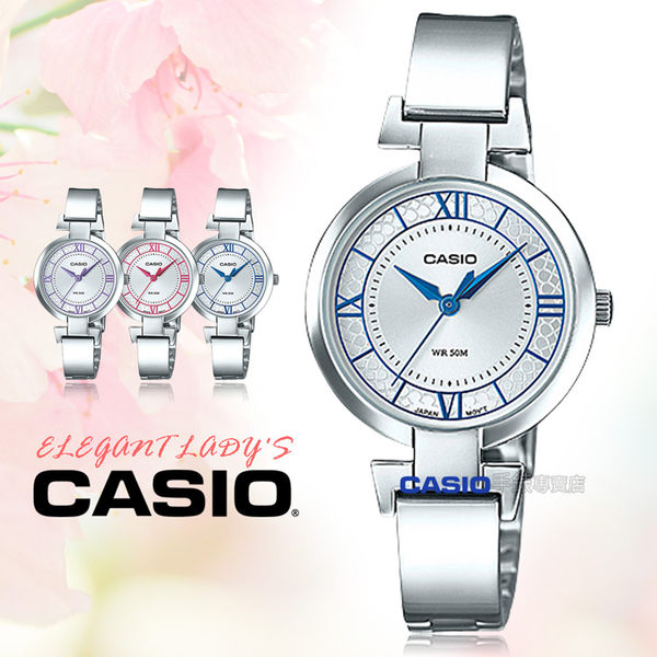CASIO 卡西歐 手錶專賣店 LTP-E403D-2A 女錶 不鏽鋼錶帶  防水 礦物玻璃 一觸式3倍扣