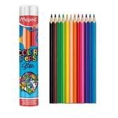 學用筒裝彩色鉛筆12色【法國Maped】